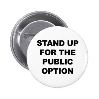STAND UP FOR THE PUBLIC OPTION PINBACK BUTTON