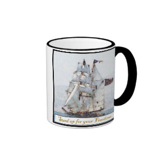 Stand Up for your Freedoms Ringer Coffee Mug