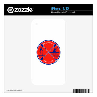 Stand-up Paddle and Kayak Circle Retro iPhone 4 Decal