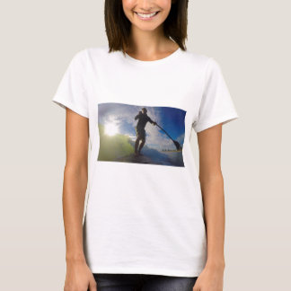 Stand up paddle board surfing a wave T-Shirt