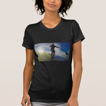 Beach Themed Stand up paddle board surfing a wave T-Shirt