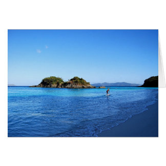 Stand Up Paddle Boarder, Trunk Bay, U. S. V.I Greeting Card