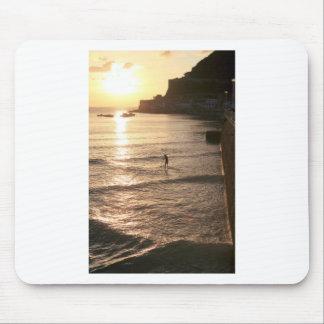 Stand up paddle boarding sunset San Sebastian Mouse Pad