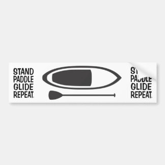 stand up paddle bumper sticker