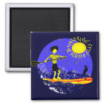 Stand Up Paddle Design 2 Inch Square Magnet