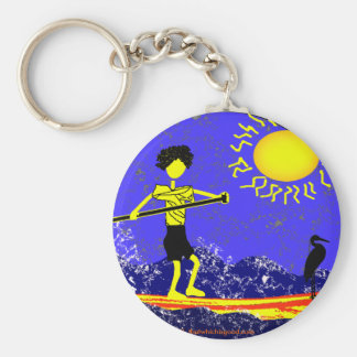 Stand Up Paddle Design Basic Round Button Keychain