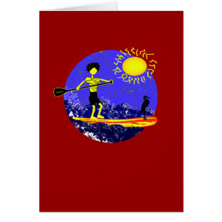 Stand Up Paddle Design Card