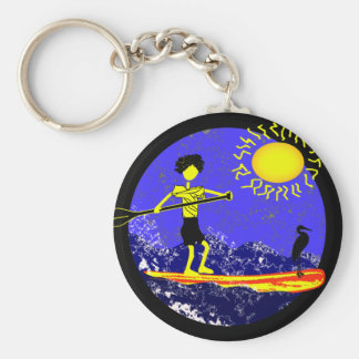 Stand Up Paddle Design Keychain