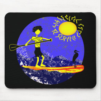 Stand Up Paddle Design Mouse Pad