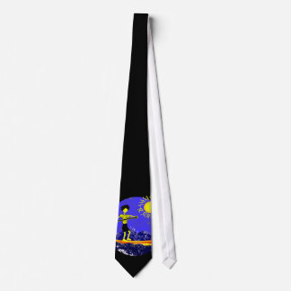 Stand Up Paddle Design Neck Tie