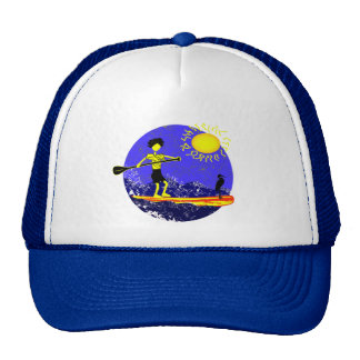 Stand Up Paddle Design Trucker Hat