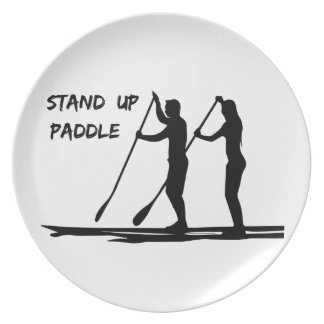 Stand up paddle plate
