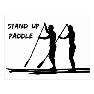Stand up paddle postcard