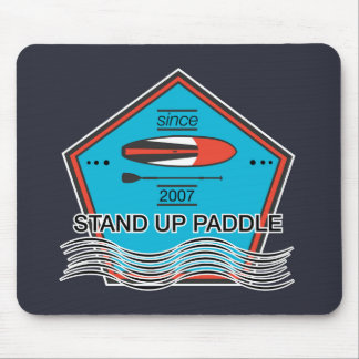 Stand Up Paddle Poster Mouse Pad