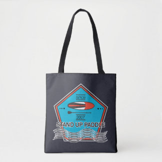 Stand Up Paddle Poster Tote Bag