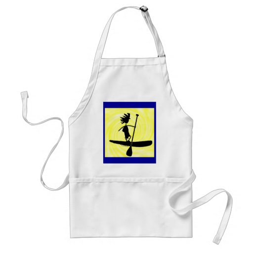Stand Up Paddle Silhouette Design Aprons