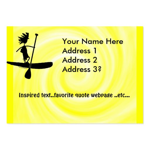 Stand Up Paddle Silhouette Design Business Cards
