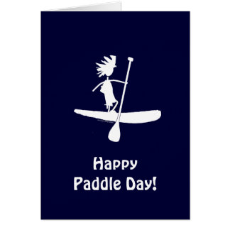 Stand Up Paddle Silhouette Design Card