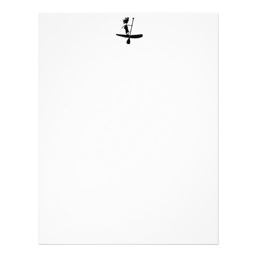 Stand Up Paddle Silhouette Design Customized Letterhead