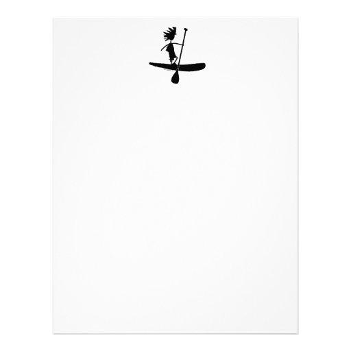 Stand Up Paddle Silhouette Design Custom Letterhead