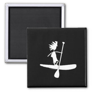 Stand Up Paddle Silhouette Design Magnet