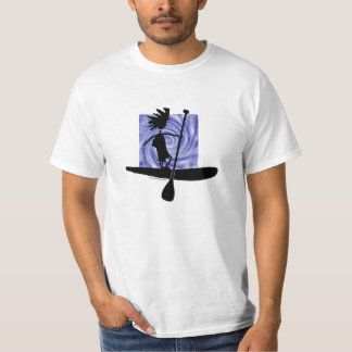 Stand Up Paddle Silhouette Design T Shirts
