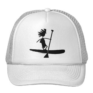 Stand Up Paddle Silhouette Design Trucker Hat