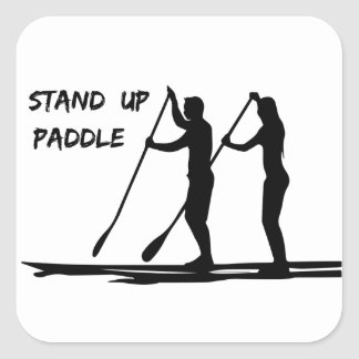 Stand up paddle square sticker