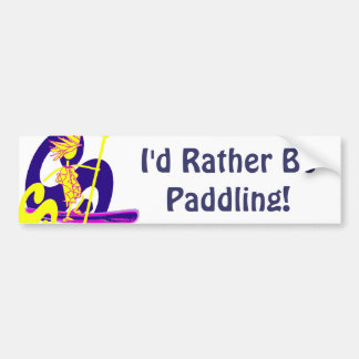 Stand Up Paddle Surf Car Bumper Sticker