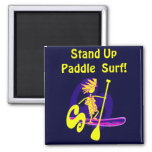 Stand Up Paddle Surf Design 2 Inch Square Magnet
