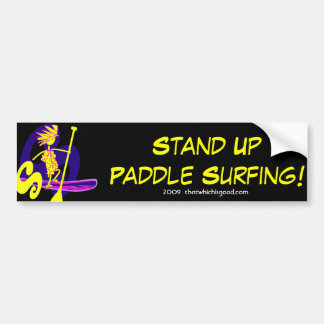 Stand Up Paddle Surf Design Bumper Sticker