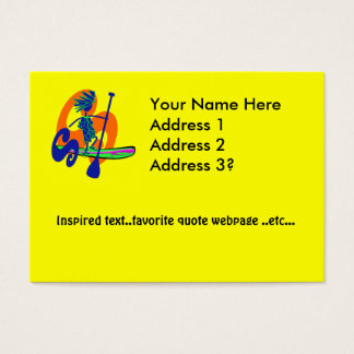 Stand Up Paddle Surf Design Business Card