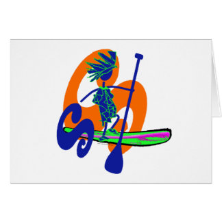 Stand Up Paddle Surf Design Greeting Card