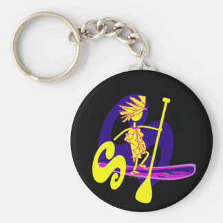 Stand Up Paddle Surf Design Keychain