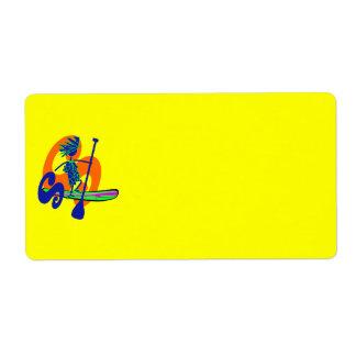 Stand Up Paddle Surf Design Label