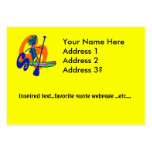 Stand Up Paddle Surf Design Large Business Card