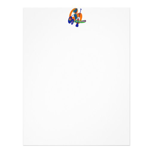 Stand Up Paddle Surf Design Letterhead