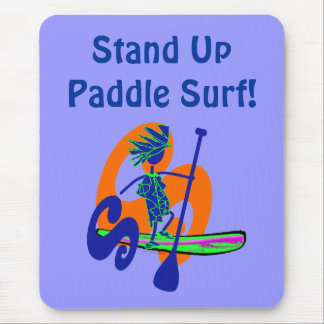 Stand Up Paddle Surf Design Mouse Pad