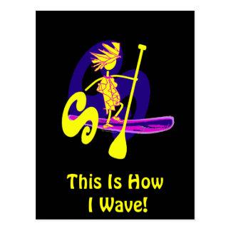 Stand Up Paddle Surf Design Postcard