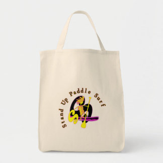 Stand Up Paddle Surf Grocery Tote Bag