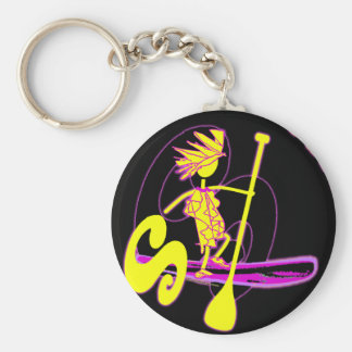 Stand Up Paddle Surf Keychain