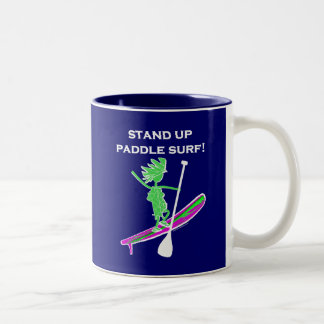 Stand Up Paddle Surf! Two-Tone Coffee Mug