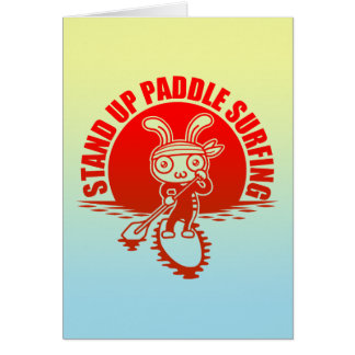 Stand up paddle surfing card
