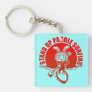 Stand up paddle surfing keychain