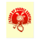 Stand up paddle surfing post cards
