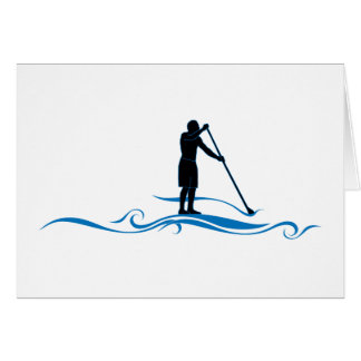 Stand Up Paddle - Waves Greeting Card