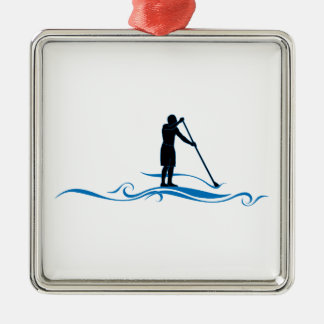 Stand Up Paddle - Waves Metal Ornament