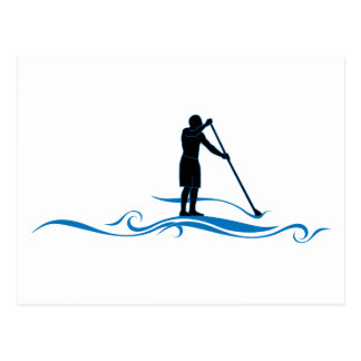 Stand Up Paddle - Waves Postcard