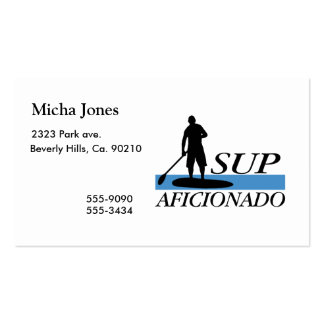 Stand Up Paddleboard Aficionado Double-Sided Standard Business Cards (Pack Of 100)