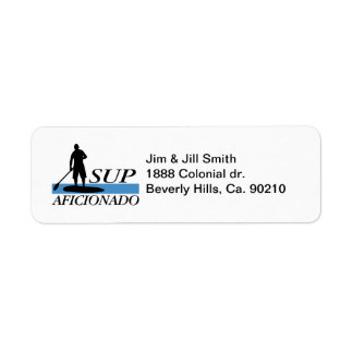Stand Up Paddleboard Aficionado Return Address Label